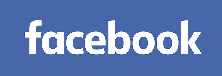 Facebook logo badge.